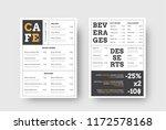 vector design menu for cafes... | Shutterstock .eps vector #1172578168