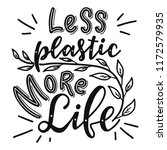 less plastic more life.... | Shutterstock .eps vector #1172579935