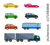 Different Passenger Car Vector...
