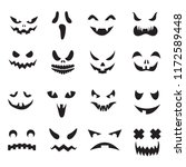 pumpkin faces. halloween jack o ... | Shutterstock .eps vector #1172589448