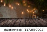 wood table on blur background... | Shutterstock . vector #1172597002