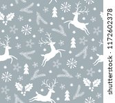 seamless christmas pattern | Shutterstock .eps vector #1172602378