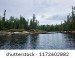 Wild Landscape In Canada. Lake...