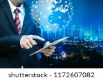 global network connection... | Shutterstock . vector #1172607082