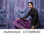 sexy pretty woman wear skinny... | Shutterstock . vector #1172608102