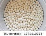 many cheap meatballs. white... | Shutterstock . vector #1172610115
