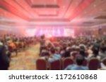 blur of light in the show room... | Shutterstock . vector #1172610868