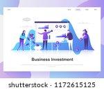 business investment modern flat ...   Shutterstock .eps vector #1172615125