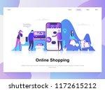 online shopping modern flat... | Shutterstock .eps vector #1172615212