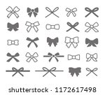 bow icon set | Shutterstock .eps vector #1172617498