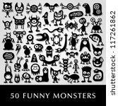 huge vector set of funny...