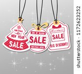 christmas sale tag label design.... | Shutterstock .eps vector #1172623252