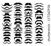 huge set of vector mustache. | Shutterstock .eps vector #117262936