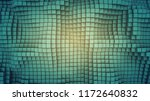 wavy surface of cubes. abstract ... | Shutterstock . vector #1172640832