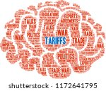 tariffs word cloud on a white...   Shutterstock .eps vector #1172641795