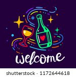 vector creative neon glow color ... | Shutterstock .eps vector #1172644618