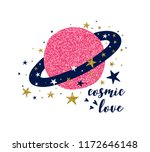 saturn print design with slogan....   Shutterstock .eps vector #1172646148