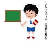 illustration of little boy in... | Shutterstock .eps vector #1172647198