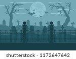 cemetery or graveyard... | Shutterstock . vector #1172647642