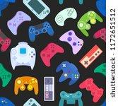 video game controller... | Shutterstock .eps vector #1172651512