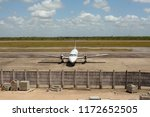 jet plane parked in the airport ... | Shutterstock . vector #1172652505