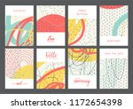 set of creative universal...   Shutterstock .eps vector #1172654398