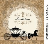 card design with vintage... | Shutterstock .eps vector #117265672