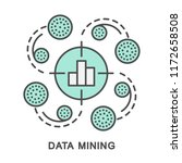 icons data mining. detection of ... | Shutterstock .eps vector #1172658508