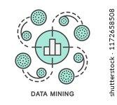 icons data mining. detection of ... | Shutterstock .eps vector #1172658508