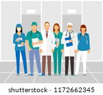 doctors and assistant in a... | Shutterstock . vector #1172662345