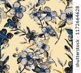watercolor seamless pattern... | Shutterstock . vector #1172664628