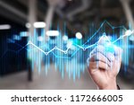 double exposure economic charts ... | Shutterstock . vector #1172666005