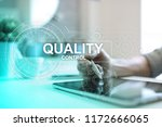 quality assurance. control and... | Shutterstock . vector #1172666065
