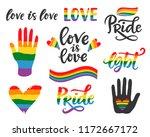 gay hand written lettering...   Shutterstock .eps vector #1172667172
