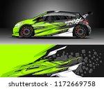 car decal wrap design vector.... | Shutterstock .eps vector #1172669758