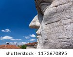 Giant Stone Head Of Constantin...