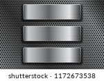steel rectangle plates on metal ... | Shutterstock .eps vector #1172673538