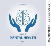 world mental health day. symbol ... | Shutterstock .eps vector #1172673928