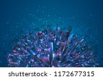 vector abstract 3d crystal. a... | Shutterstock .eps vector #1172677315
