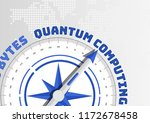 quantum computing concept with... | Shutterstock .eps vector #1172678458