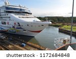cruise ship passengers lining... | Shutterstock . vector #1172684848