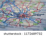 london on the map | Shutterstock . vector #1172689732