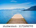 beautiful view to calafquen... | Shutterstock . vector #1172698795