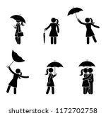 stick figure woman with various ... | Shutterstock .eps vector #1172702758