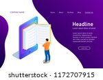 concept of main page of web... | Shutterstock .eps vector #1172707915