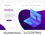isometric concept of database ... | Shutterstock .eps vector #1172707942