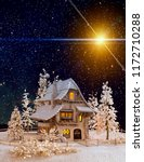 christmas and new year greeting ... | Shutterstock . vector #1172710288