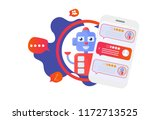 isolated chatbot advisor vector ... | Shutterstock .eps vector #1172713525