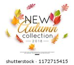 autumn new collection vector... | Shutterstock .eps vector #1172715415