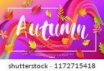autumn new collection banner... | Shutterstock .eps vector #1172715418